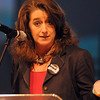 Maura Gast, executive director of Irving Convention and Visitors Bureau, told Norman hoteliers, business executives and city leaders Tuesday, May 8, 2012, that attracting visitors to the city is a good economic investment. Photo by Jerry Laizure