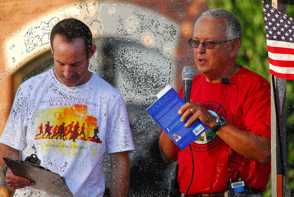 Runners compete in the 37th annual Brookhaven Run Saturday morning at Brookhaven Village.<br /> Kyle Phillips/The Transcript