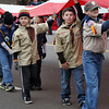 Many troops of Boy Scouts came to take part in the annual Norman Christmas Parade on Saturday. Julie Bragg/ For the Transcript