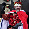 The King of the Norman Medieval Festival graces his presences during the Norman Christmas Parade on Saturday. Julie Bragg/ For the Transcript