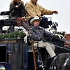 Norman Christmas Parade Grand Marshalls Barry Switizer and his wife Becky. Julie Bragg/ For the Transcript