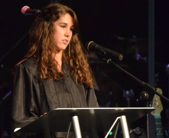 Megan Johnson reads scripture during the 2012 Senior Baccalaureate Sunday evening at McFarlin Memorial Methodist Church.  <br /> Kyle Phillips/The Transcript