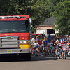 Engine 1 leads the Vineyard neighborhood parade. Jerry Laizure / The Transcript