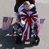Mason  Hough gets a free ride in the Vineyard neighborhood 4th of July parade. Jerry Laizure / The Transcript