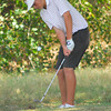 Patrick Brown chips his ball out of the rough on the 12th hole Wednesday afternoon during the Sooner Junior All-Stars Golf Tournament at Jimmie Austin OU Golf Club.<br /> Kyle Phillips/The Transcript