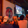 Thunder fans gather at the Brewhouse Thursday evening to watch game two of the NBA Finals between the Oklahoma City Thunder and the Miami Heat.<br /> Kyle Phillips/The Transcript