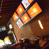 The Brewgouse offered multiple televisions for fans to watch the Thunder vs. Miami game Thursday eveing at the bar's watch party.<br /> Kyle Phillips/The Transcript