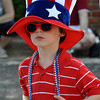 Zachary Kenney, age 4, son of Tim and Mindy Kenny, sports an Uncle Sam hat in spirit of the Fourth of July at the Brookhaven festivities on Wednesday. Julie Bragg/ The Transcript