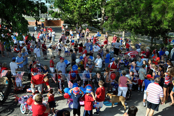 Residents of Brookhaven came out in full force to celebrate the Fourth of July on Wednesday. Julie Bragg/ The Transcript