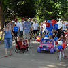Decorated bicycles, scooters, wagons and floats were the highlight of the Brookhaven Fourth of July parade on Wednesday. Julie Bragg/ The Transcript