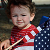 Tommy Kemp, age 2, son of Ashley Kemp, waits for the Brookhaven Fourth of July parade to begin on Wednesday. Julie Bragg/ The Transcript
