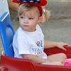 Harper Standridge, age 2, daughter of Lisa and Robert Standridge, sports her festive patriotic attire in the Brookhaven Fourth of July parade on Wednesday. Julie Bragg/ The Transcript