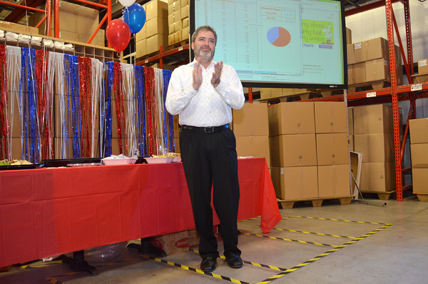 Rob Standridge celebrates at his election watch party Tuesday after winning the State Senator District 15 race against opponent Claudia Griffith.<br /> Kyle Phillips/The Transcript