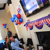 Chad Williams checks the poll nunmbers for Norman City Council Tuesday at his watch party.<br /> Kyle Phillips/The Transcript
