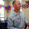 Chad Williams smiles as he realizes he has won the election for Norman City Council Tuesday evening at his watch party.<br /> Kyle Phillips/The Transcript