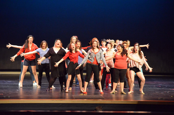 Norman North and Norman High students perform High School Musical Wednesday afternoon for middle school student at the Nancy O'Brian Center for the Performing Arts.  The show will be open to the public at 7 p.m. Friday night.<br /> Kyle Phillips/The Transcript
