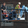Worker dies in fall from roof of Headington Hall, Monday, June 18, 2012.   Jerry Laizure / The Transcript