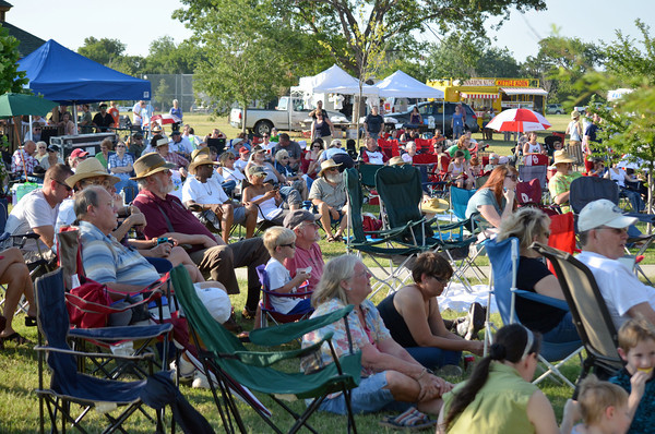 Poeple fill Andrews Park for the Jazz in June Concert Saturday night.<br /> Kyle Phillips/The transcript