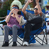 Leslie and Redon Perry cheer as they listen to Steve Coleman and the OBS All-Stars Thursday night at the opening concert of Jazz in June at Brookhaven Village.  The fun continues tonight with The Bert Dalton Brazil Project and  What's That.<br /> Kyle Phillips/The Transcript