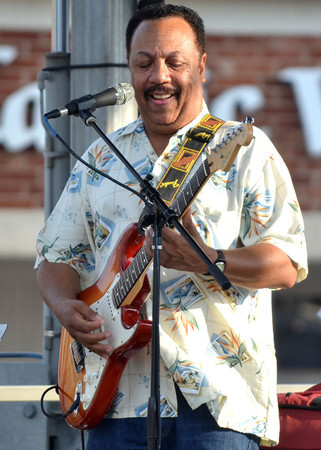 Steve Coleman plays the guitar at the opening concert of  Jazz in June with his band Steve Coleman & The OBS All-Stars Friday night at Brookhaven Village.  Tonight's artist at the concert include The Bert Dalton Brazil Project and  What's That.<br /> Kyle Phillips/The Transcript