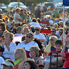 Crowds fill Andrews Park listening to the music of the Ivan Peña Ensemble Saturday evening at Jazz in June.<br /> Kyle Phillips/The Transcript