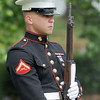 Marine Lance Cpl. Joseph Vandorp served in the honor guard in Memorial Day services at Sunset Cemeter, Monday, May 28, 2012. Jerry Laizure/The Transcript