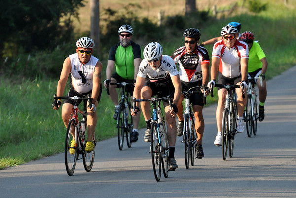 Groups of people came out in support of the 17th annual Norman Conquest that is organized by the Bicycle League of Norman on Saturday morning. Julie Bragg/ The Transcript