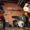 The band Lotta Tuff plays a song Thursday as they play a show at the Red Room during the opening night of the Norman Music Festival.<br /> Transcript Photo by Kyle Phillips