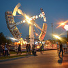 Visitors to the Norman Music Festival and the Lions Club Carnival walk around Downtown Norman Friday night during the festivities that are in the area.<br /> Transcript Photo by kyle Phillips