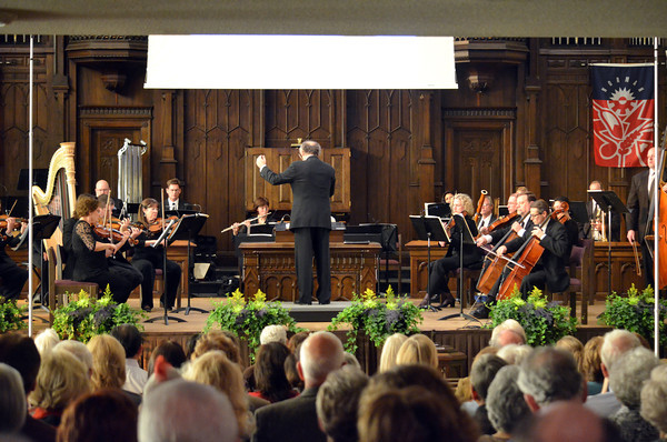 """Members of the Norman Philharmonics play a concert Sunday afternoon at McFarlin Memorial United Methodist Church.  The concert that was performed was titled """"A Simple Gift"""".<br /> Kyle Phillips/The Transcript"""