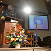 Norman Police Chief Keith Humphery speaks to recruits during the Norman Police Academy graduation ceremony at Bethal Baptist Church.<br /> Transcript Photo by Kyle Phillips
