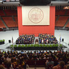 OU students new to the university gather at the Lloyd Noble Center Thursday afternoon for the New Sooner Convocation.<br /> Kyle Phillips/The Transcript