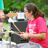 Drummer Eric Nauni performs with Beau Jennings and the Tigers Sunday afternoon at Lions Park during the Summer Breeze Concert Series.<br /> Kyle Phillips/The Transcript