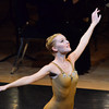 "Oklahoma Festival Ballet dancer Melanie Jensen performs her part in Joseph Hayden's ""The Creation"" Sunday at Sharp Concert Hall of Catlett Music Center.<br /> Transcript photo by Kyle Phillips"