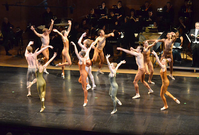 "Dancers from the Oklahoma Festival Ballet  perform in Joseph Hayden's ""The Creation"" Sunday at Sharp Concert Hall of Catlett Music Center. Transcript photo by Kyle Phillips"