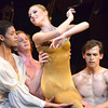 "Zeek Wright, left, and other dancers from the Oklahoma Festival Ballet carry in Melanie Jensen for  her part in Joseph Hayden's ""The Creation"" Sunday at Sharp Concert Hall of Catlett Music Center.<br /> Transcript photo by Kyle Phillips"