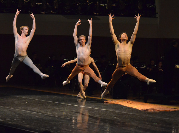 "Oklahoma Festival Ballet dancers performs their part in Joseph Hayden's ""The Creation"" Sunday at Sharp Concert Hall of Catlett Music Center.<br /> Transcript photo by Kyle Phillips"
