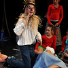 The Scarecrow (Brady Bell) rehearses before opening night June 27th. Julie Bragg/ The Transcript