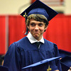 A Southmoore senior walks to get his diploma Saturday night during the Sabercats' graduation at the Cox Convention Center in Oklahoma City.<br /> Kyle Phillips/The Transcript