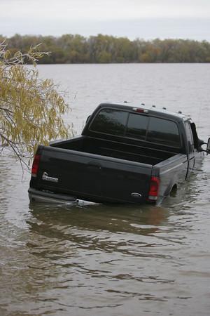 Truck in lake 2