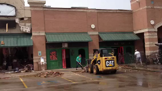 Ongoing cleanup at Dan McGuinness Pub. Video by Rob Collins
