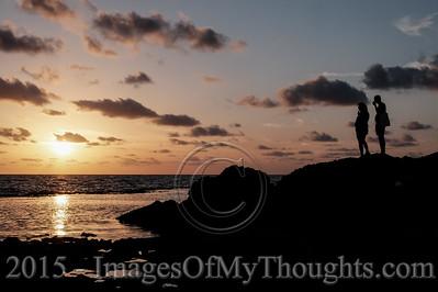 Israel: Dramatic Sunset at Nachsholim Beach