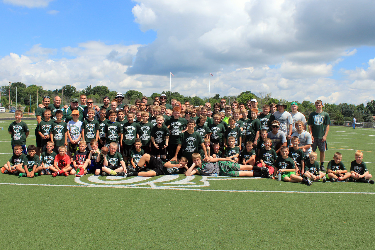 HALEE HEIRONIMUS / GAZETTE About 110 campers attended the third Juice's All-Star Camp at Cloverleaf's Gene Clark Stadium, 8525 Friendsville Rd., in Westfield Township. Proceeds from the camp benefitted Crohn's disease research.