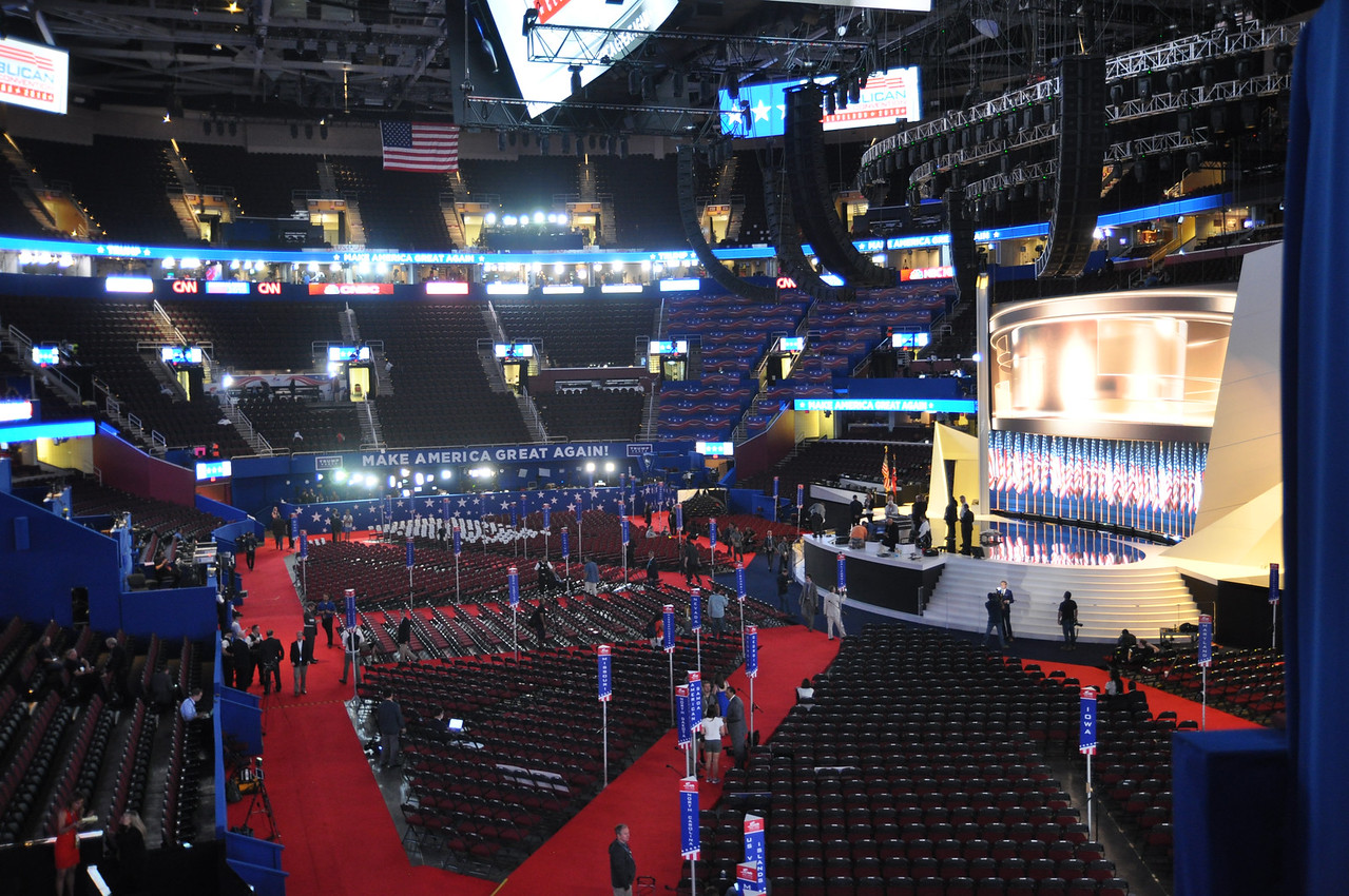 ASHLEY FOX / GAZETTE Thursday marked the last day of the Republican National Convention at the Quicken Loans Arena in Cleveland.