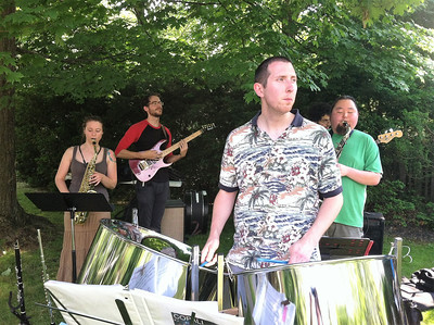 "BOB SANDRICK / GAZETTE  Copali, a jazz fusion group based in the Akron-Canton area, performed ""Chameleon"" by Herbie Hancock."