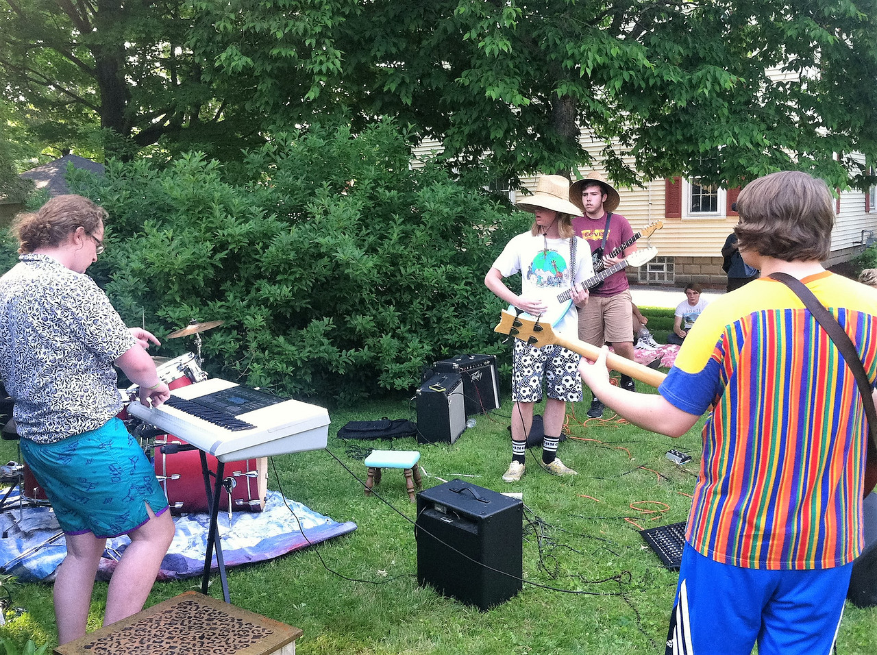 BOB SANDRICK / GAZETTE  Parking Lot Seagulls, a younger band, took part in Rockin' the Court on Saturday.