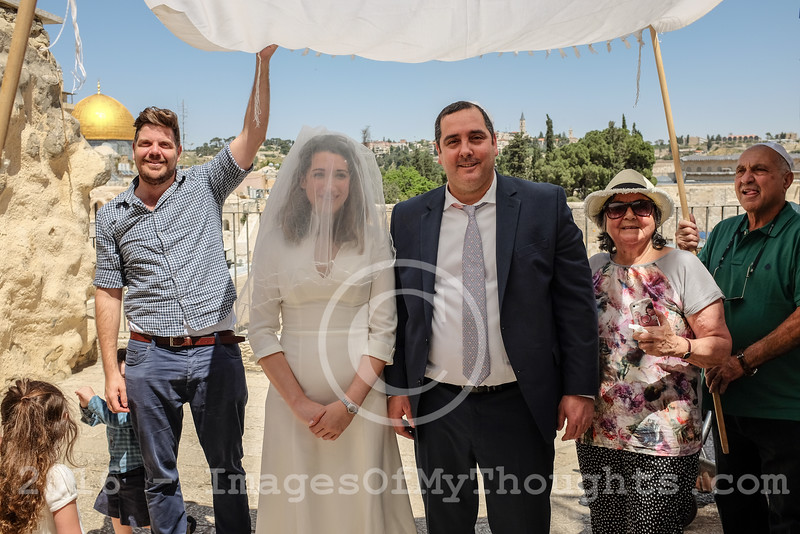Bryce and Yossef Wed at the Western Wall in Jerusalem, Israel