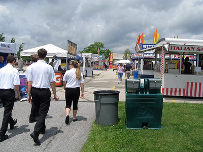 BOB SANDRICK / GAZETTE Cloudy skies might have kept the crowds away initially Saturday at the 2017 Summer Celebration in Brunswick but soon families started to pour in.