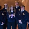 FFA members, from left, Sophia Collett, Bailey Johnson, Ashlee Wallesen, Cameron Collins, Tyler Quick and Shanna Jo Weaver, all of Alliance High School, second place in Senior Parliament Procedure, pose following the District Leadership Conference in the Chadron State College Student Center Wednesday, Nov. 15, 2017. (Photo by Tena L. Cook/Chadron State College)
