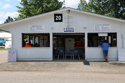 "LUCAS FORTNEY / GAZETTE The Methodist Restaurant, located at building 20 on the Medina County Fairgrounds, offers sit-down and takeout ""Home Cooked Meals."""